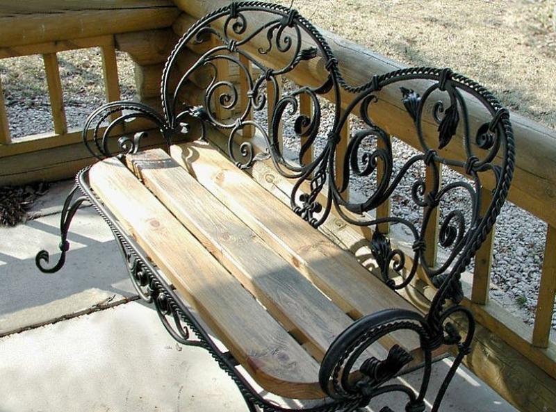Кованая садовая скамейка от Defendoor