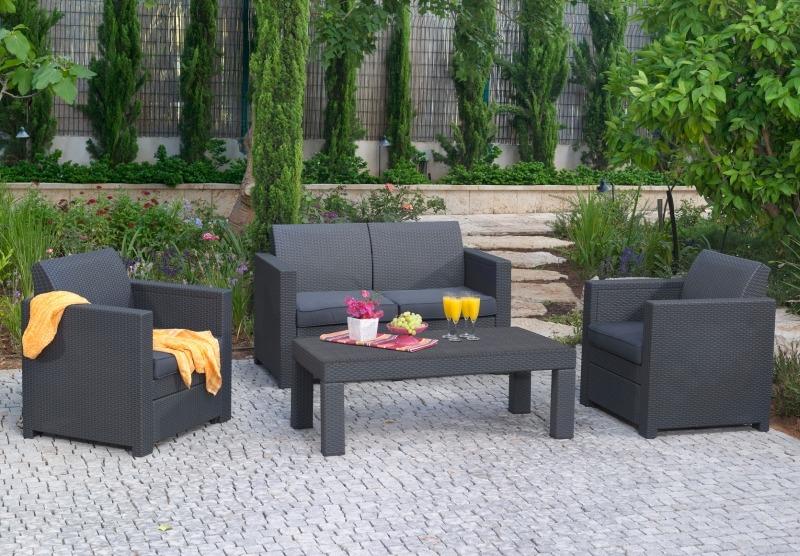 Комплект садовой мебели, плетеной из пластика, Keter