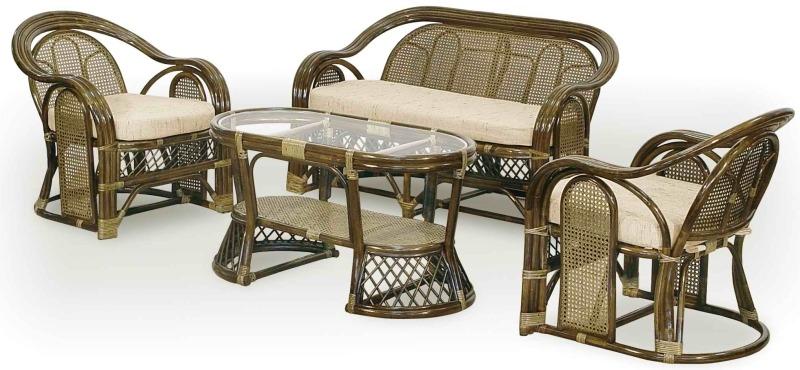 Комплект плетеной мебели из ротанга