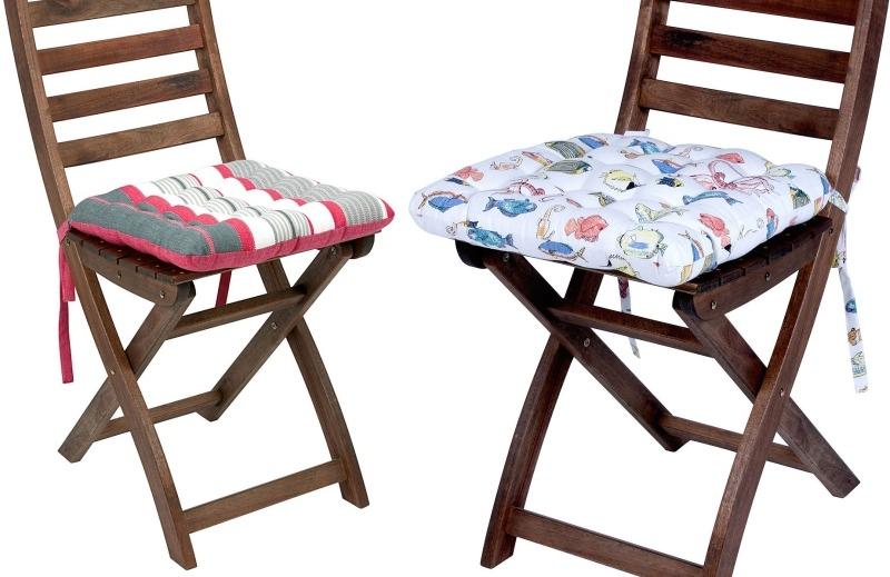 Складной деревянный стул с подушкой от Butlers