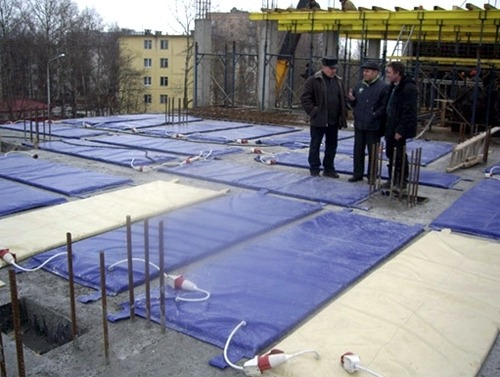 Термомат для обогрева бетона