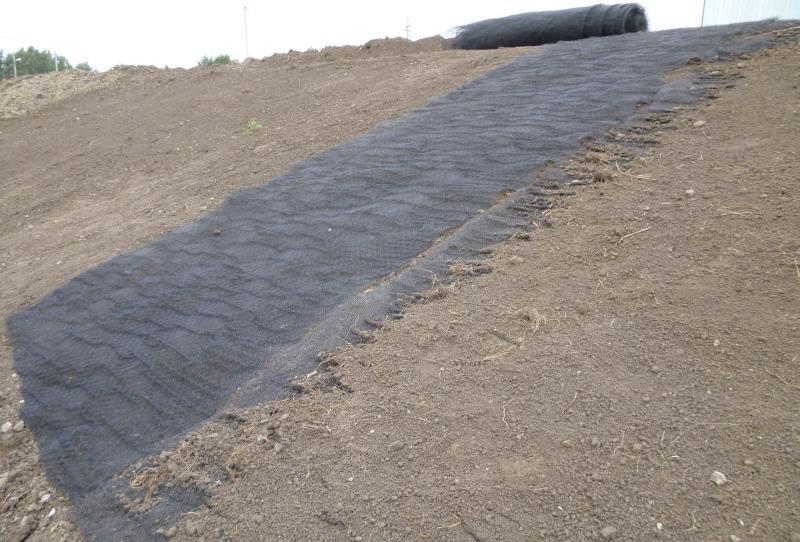 Армирование и укрепление склонов геоматом