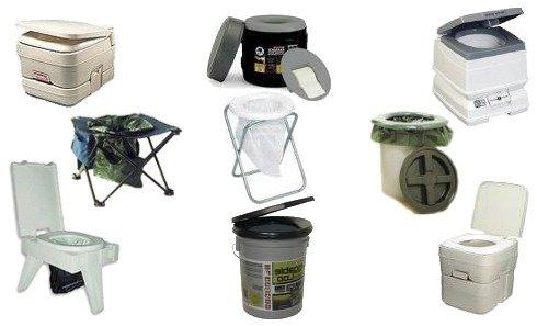 Типы биотуалетов для дачи