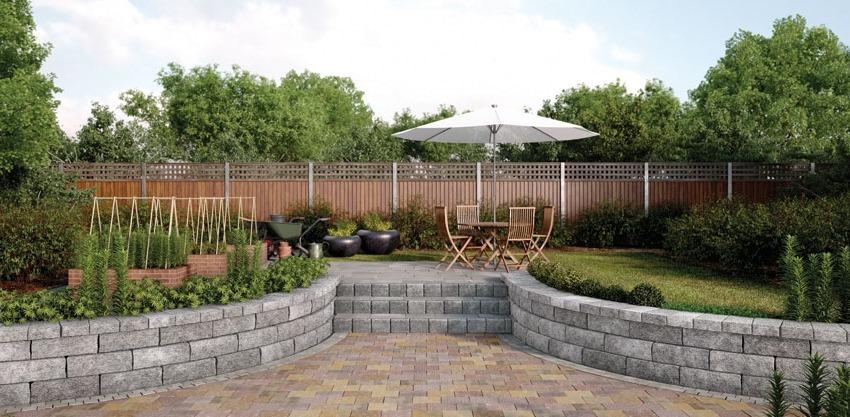 Площадки и подпорные стенки в ландшафтном дизайне