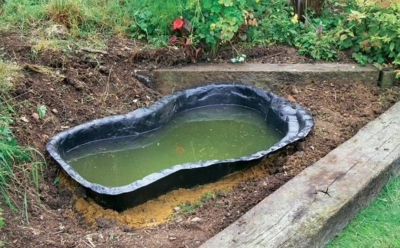 Строительство садового пруда