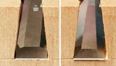 Стамески с узкими и широкими фасками