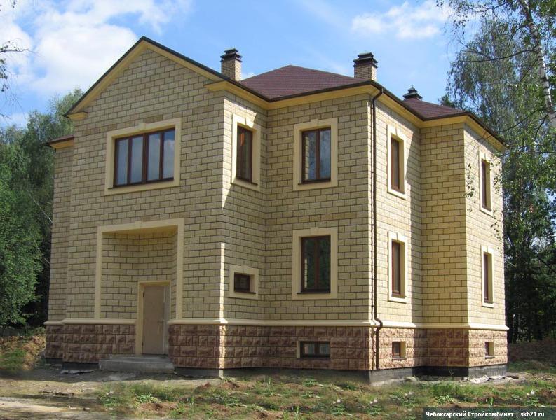 Пример готового дома из теплоблоков