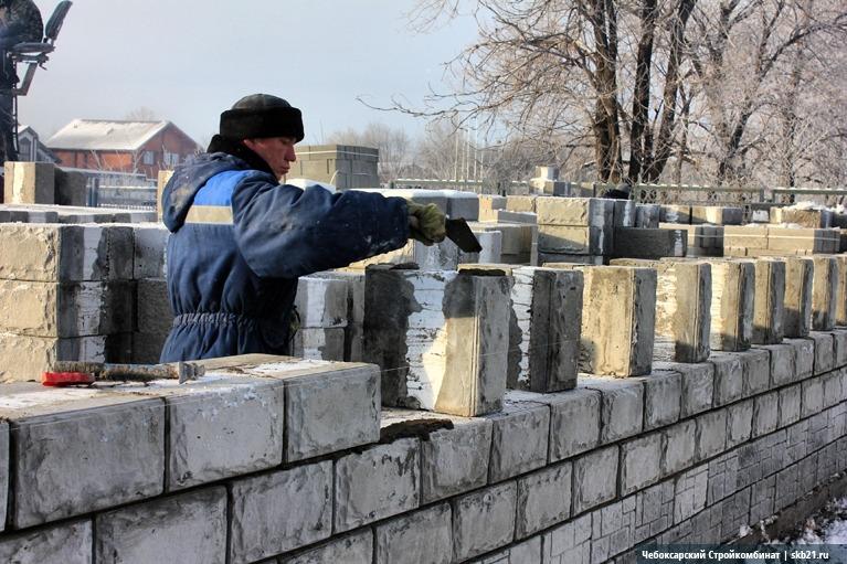 Кладка теплоблоков на цементный раствор
