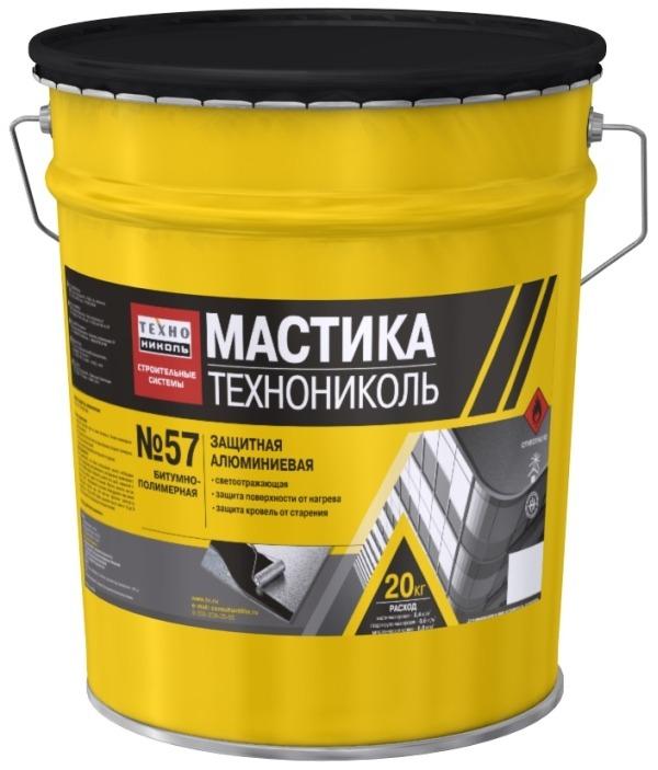 Мастика защитная алюминиевая Технониколь № 57 (Техномаст)
