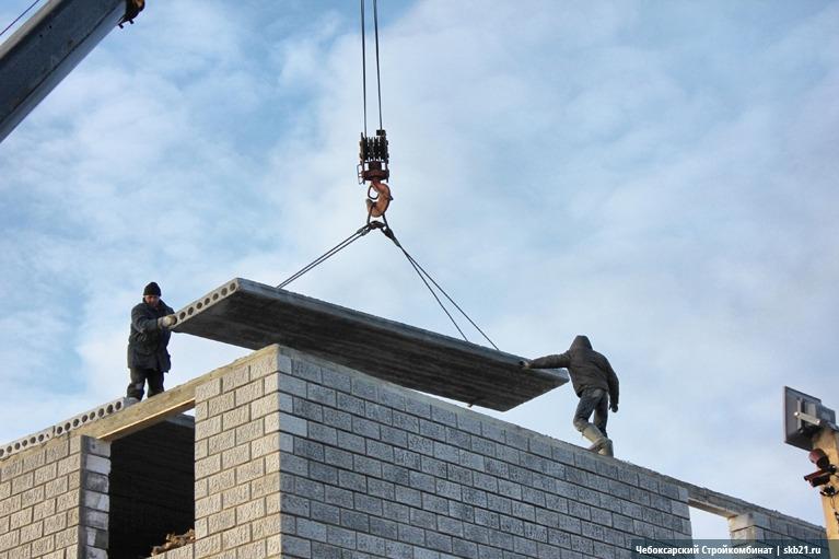 Монтаж железобетонных плит перекрытия