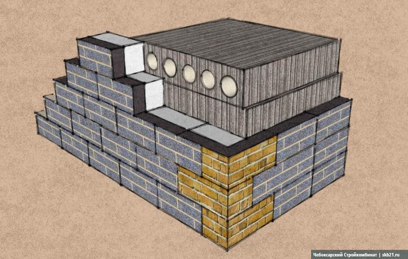 С фасада плиты перекрытия закрыты специальными поясными блоками