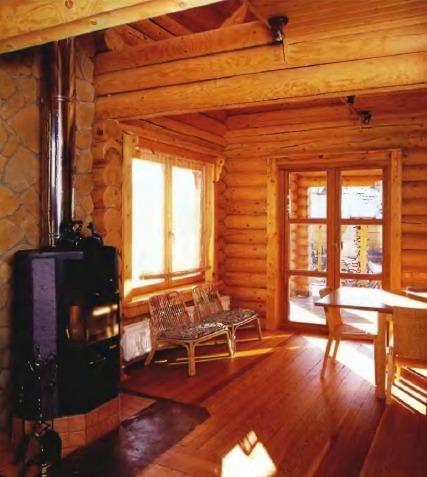 Гостевой дом из оцилиндрованного бревна