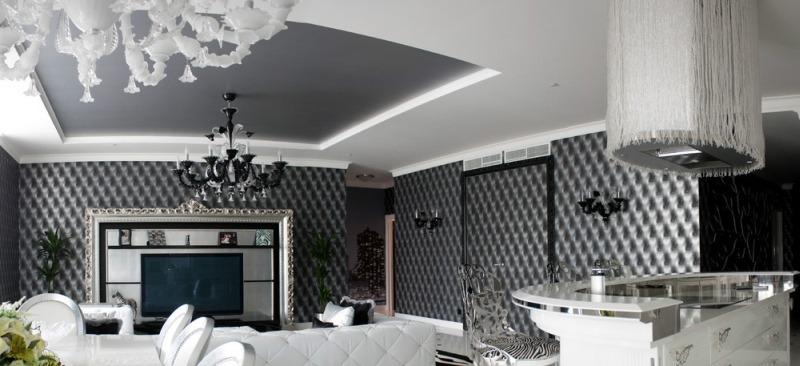 Комбинированный потолок — навесной и натяжной