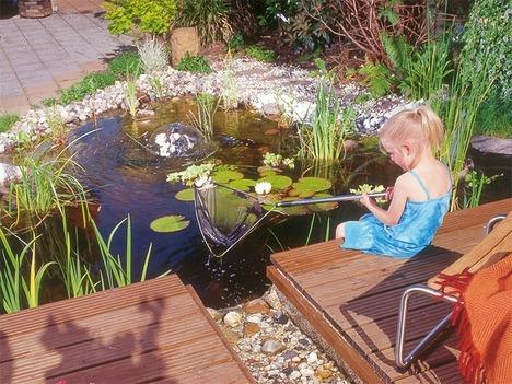Строительство садового пруда и террасы