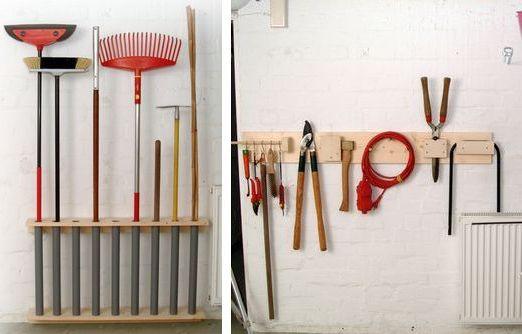 Стеллаж для хранения садового инструмента
