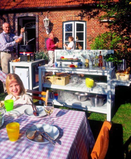 Строим открытую летнюю кухню