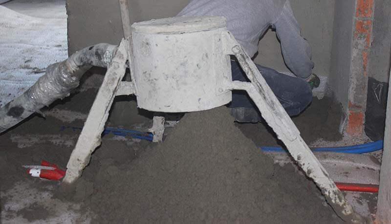 Монтаж полусухой стяжки пола