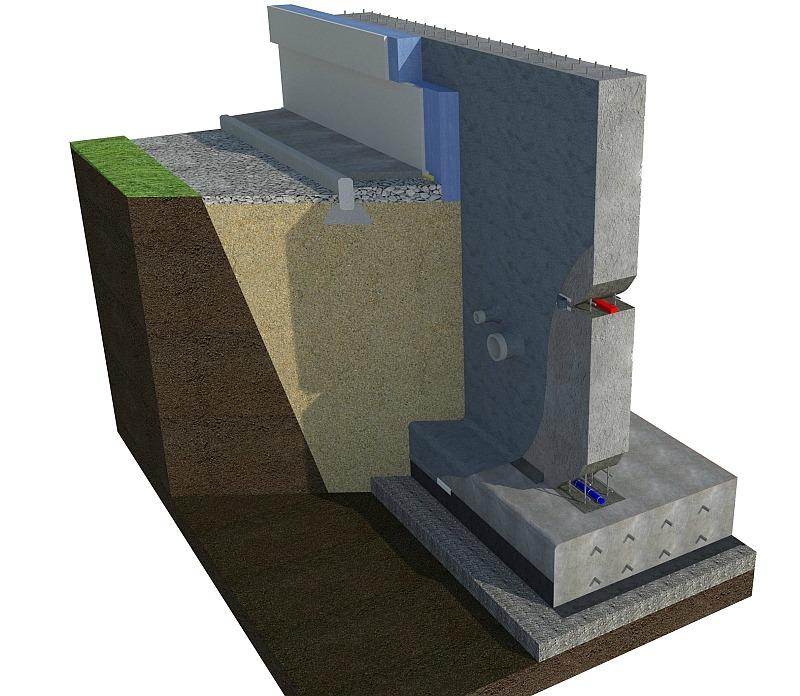 Общий вид комплексной гидроизоляции подвала