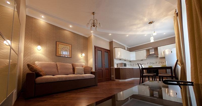 Споты в интерьере современной квартиры