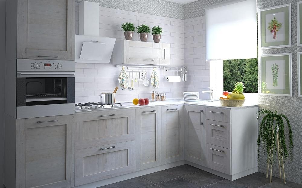 Кухня Фрейм светлая сайт