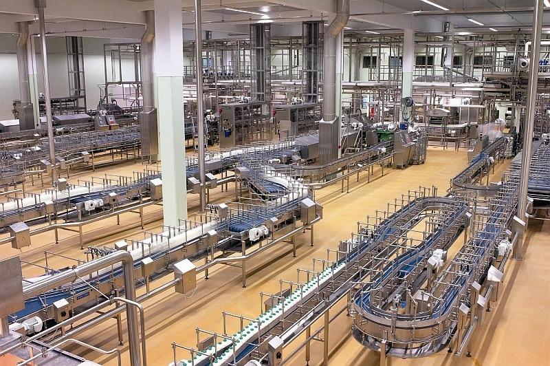 Полы Ucrete на  производстве молока
