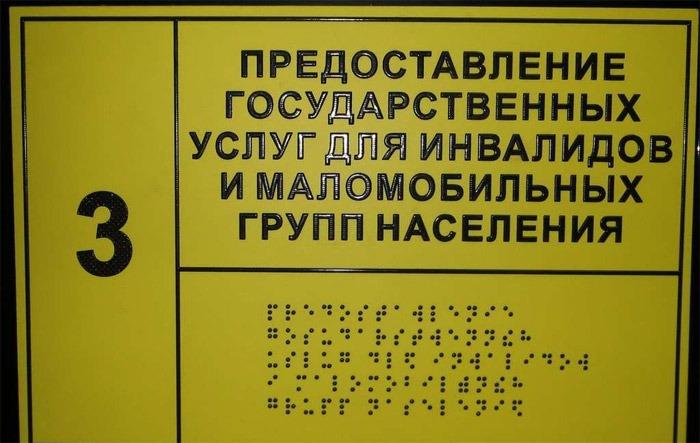 Тактильные таблички на дверях