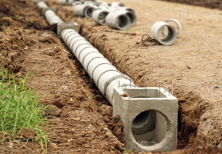 Асбестоцементные трубы в системе ливневой канализации