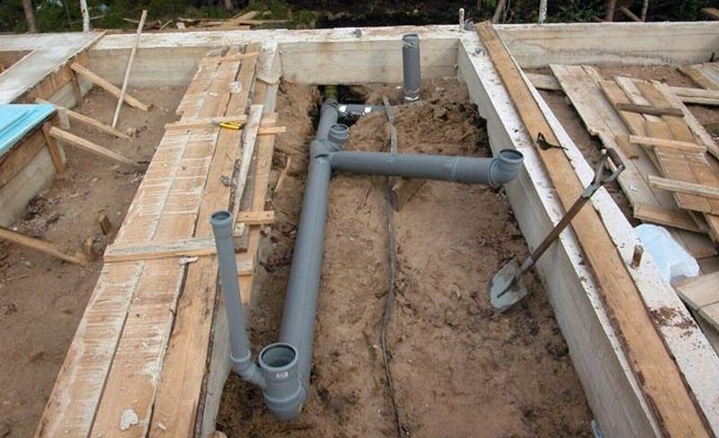 Вывод внутренней канализации