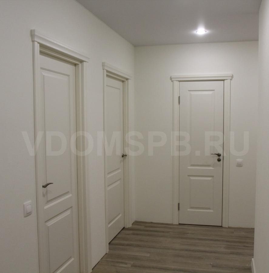 Двери окрашенные эмалью в квартире