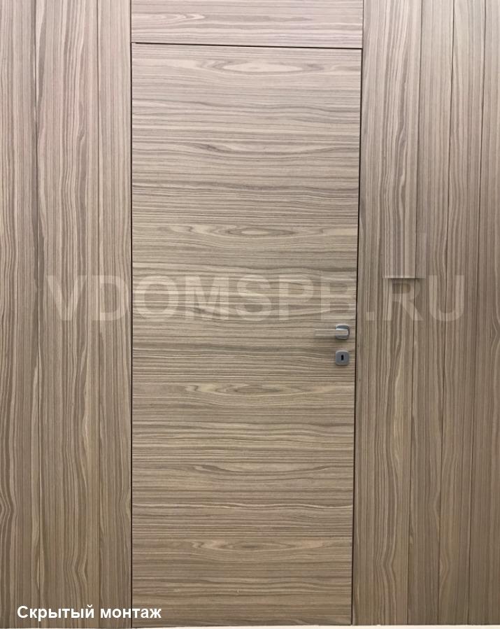 Дверь невидимка с отделкой из экошпона