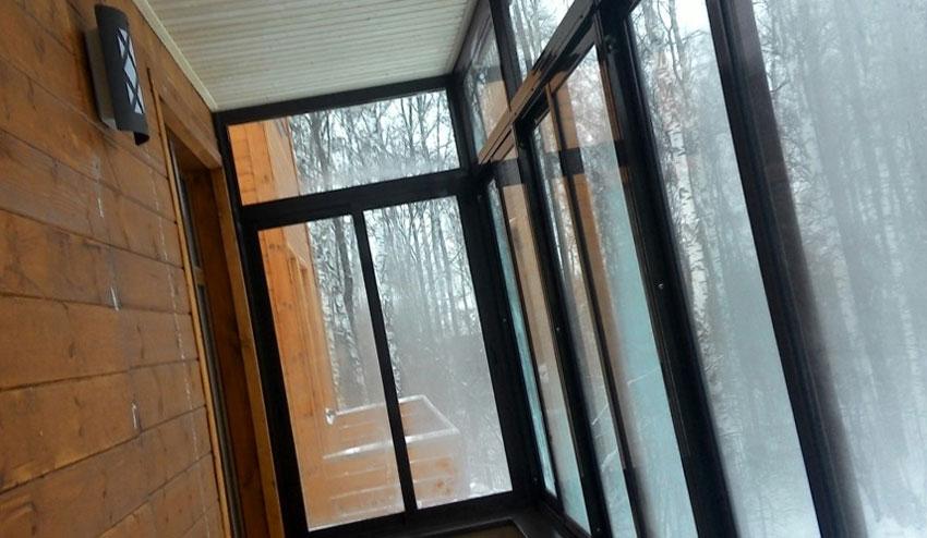 Цветные раздвижные алюминиевые окна