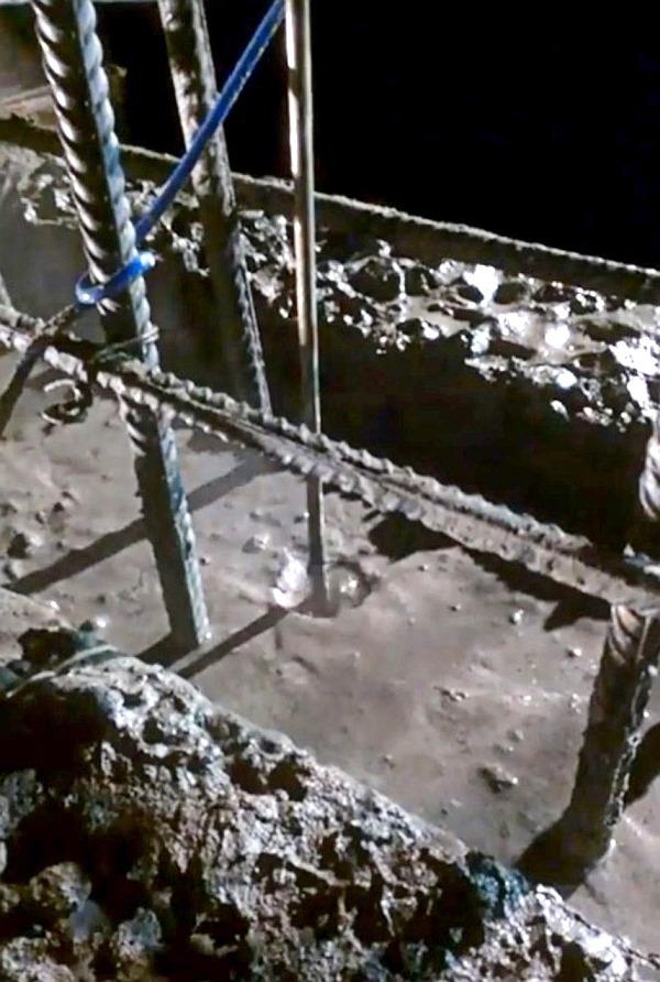 Вскипание бетона при электродном прогреве