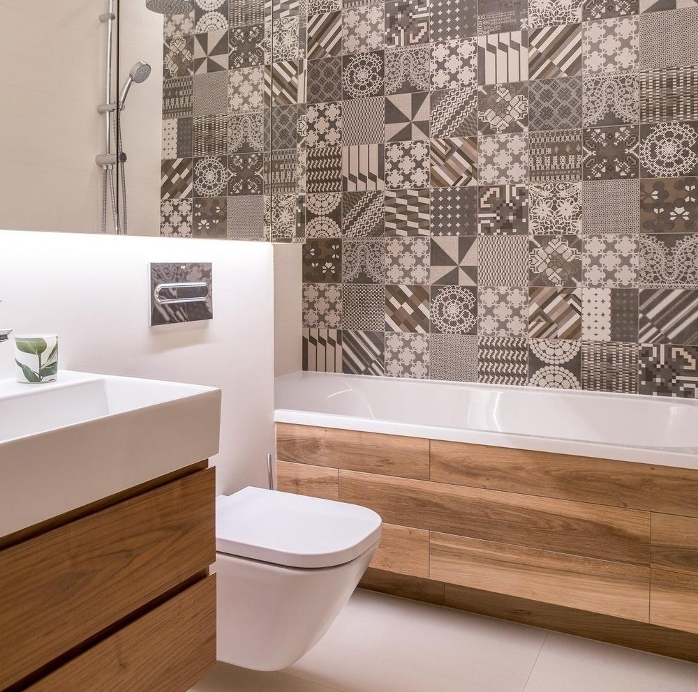Интерьер ванной комнаты 2019