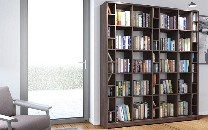 Современные стеллажи для книг, как сделать самому