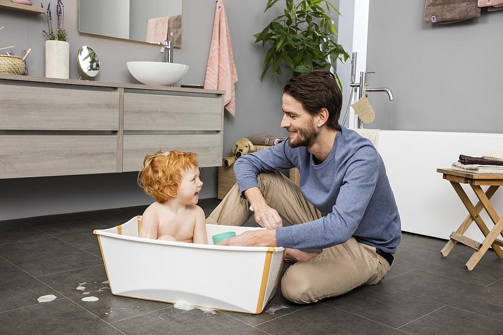 Stokke Flexi Bath желтая ванночка