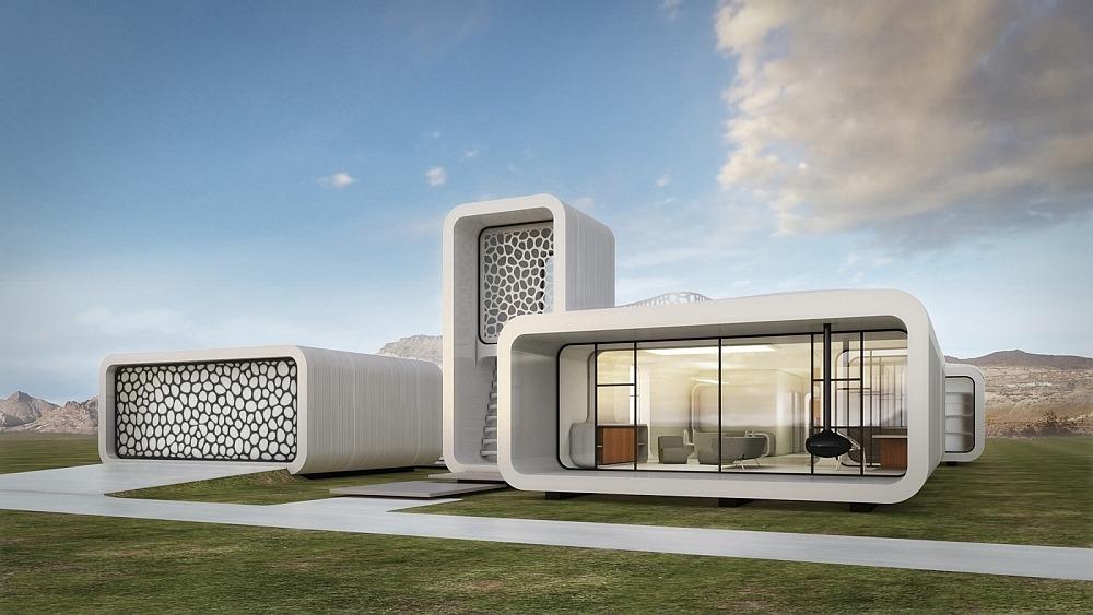 Напечатанное на 3D принтере здание