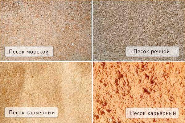 Виды песка