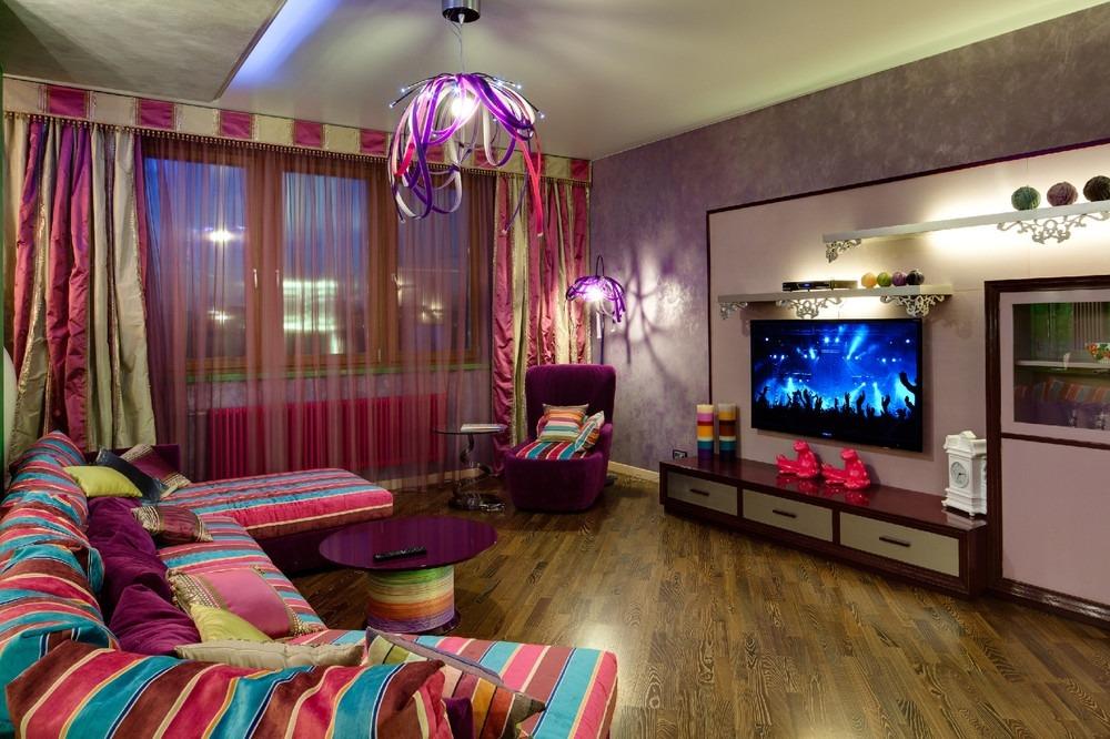 Цвет и свет в гостиной