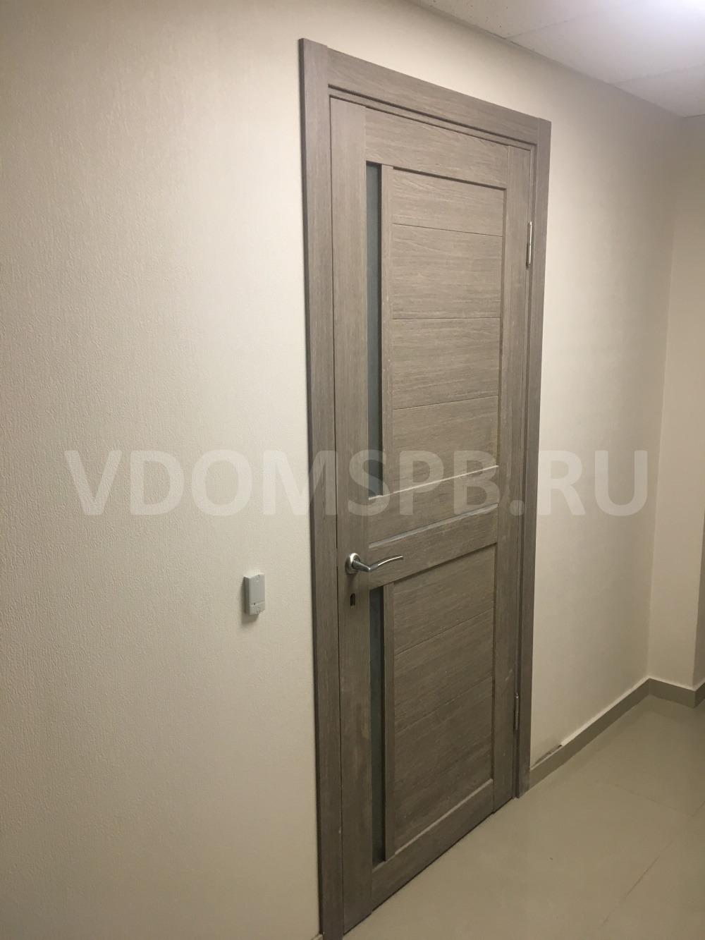 Межкомнатная дверь с покрытием из экошпона установленная в офисе