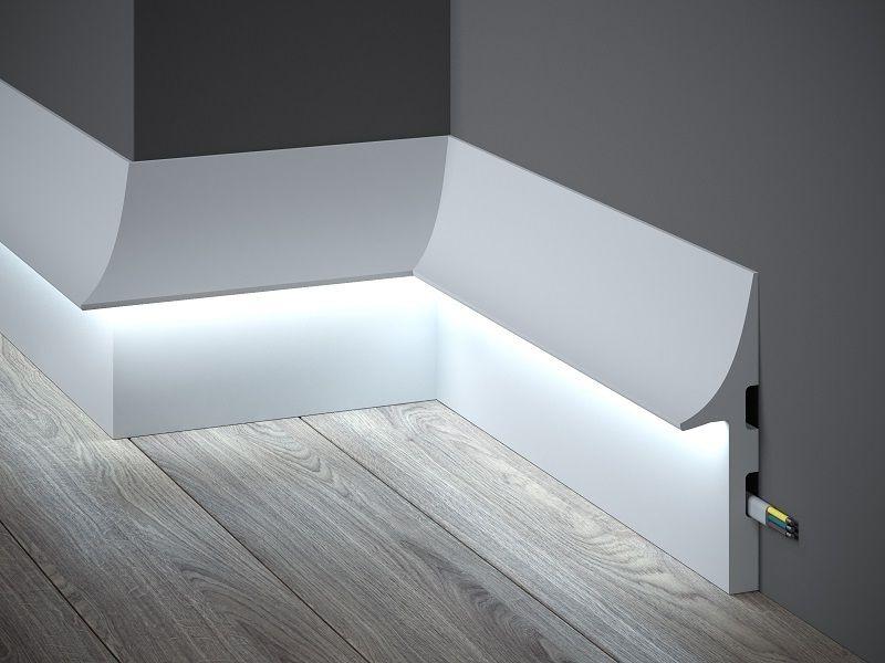 Плинтус из МДФ со светодиодной подсветкой