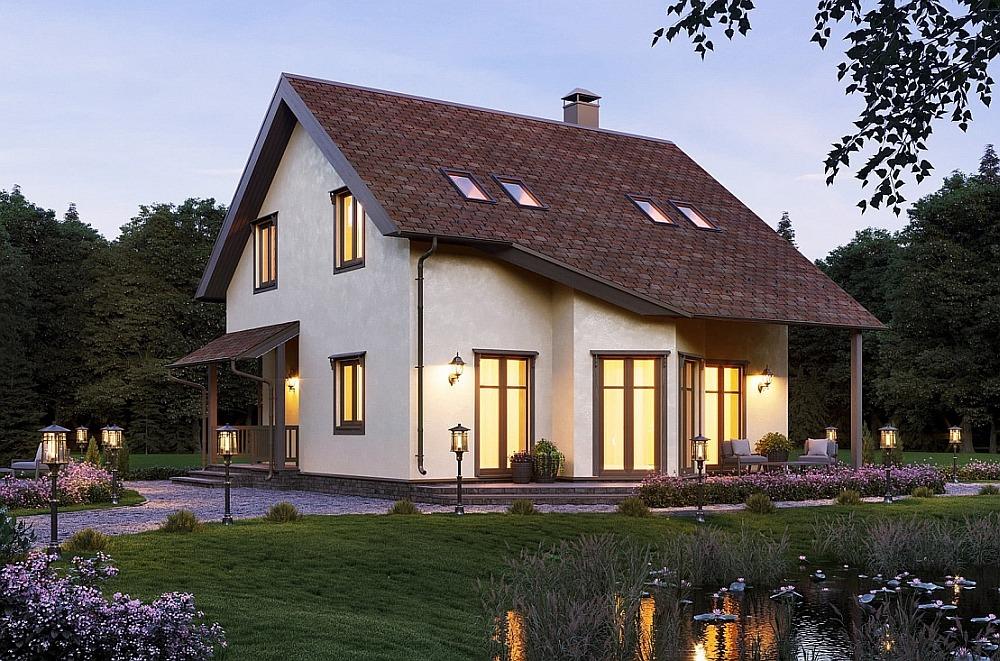 Частный дом по каркасной технологии DOM TECHNONICOL