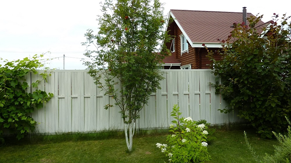 Пластиковый забор на даче