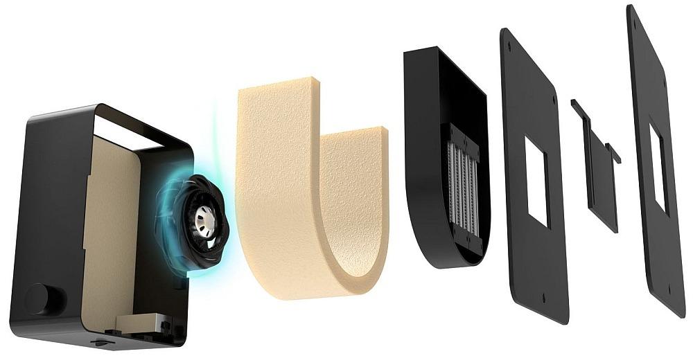 Принципиальное устройство вентиляционной установки OXY 3