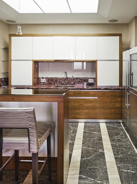 Дизайн кухни - мрамор